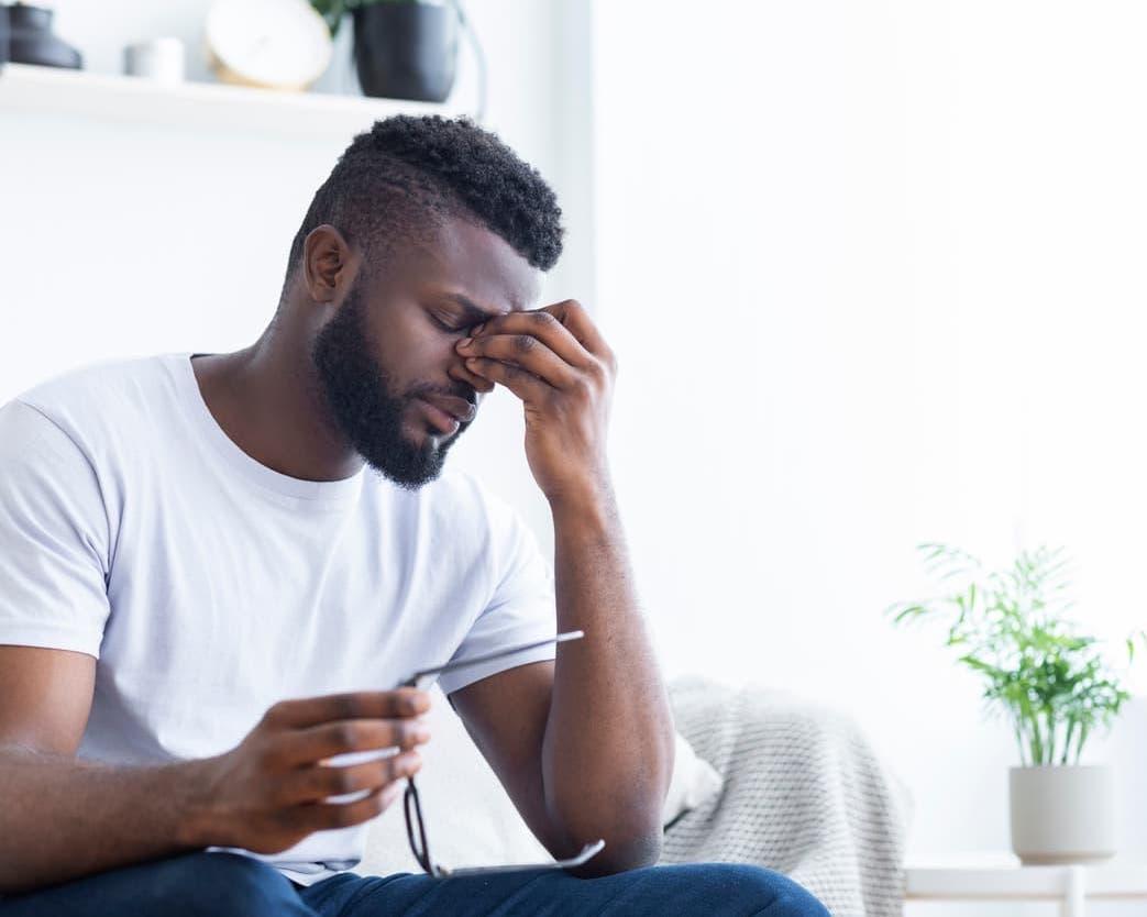 man coping with chronic illness